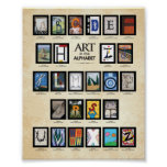 ABC Poster: Art in the Alphabet Poster