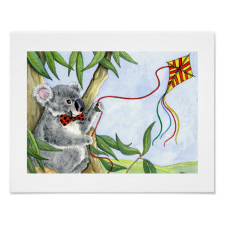 ABC print of Kindi Koala and his kite.