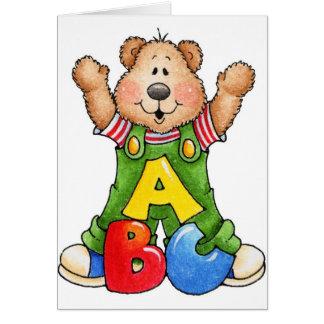 ABC Teddy Bear Card