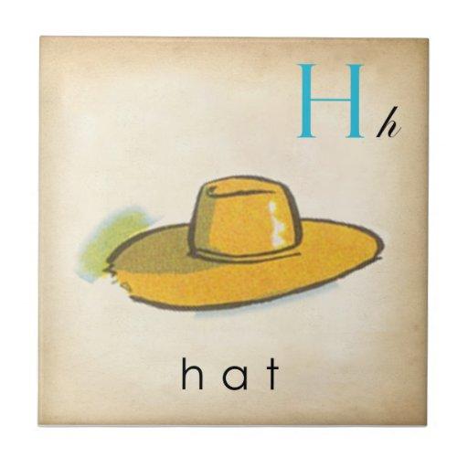 ABC Tiles the Letter H  |  Vintage Style Tiles