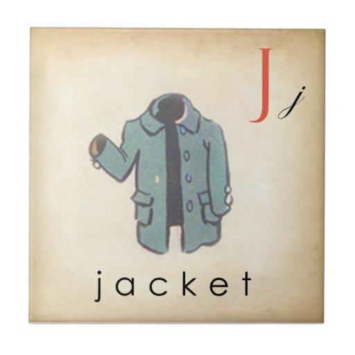 ABC Tiles the Letter J  |  Vintage Style Tiles