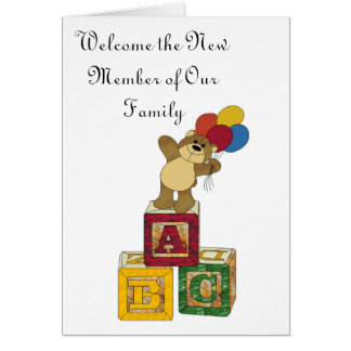 ABC, Welcome the New Member of Our Family Greeting Card