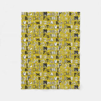 ABC yellow Fleece Blanket