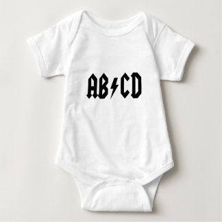 ABCD ACDC BABY BODYSUIT