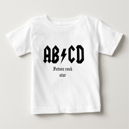 ABCD Future rock star Baby T-Shirt