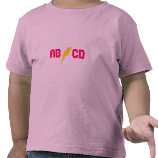 ABCD lightning bolt Tshirts