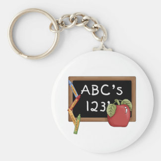 Abcs 123s Tshirts and Gifts Basic Round Button Key Ring