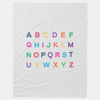 ABC's Alphabet learning colorful ABC letters Fleece Blanket