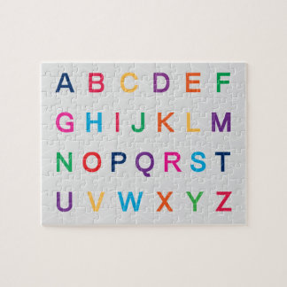 ABC's Alphabet learning colorful ABC letters Jigsaw Puzzle