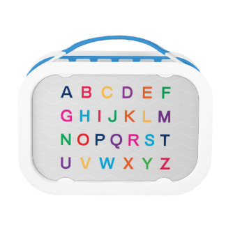 ABC's Alphabet learning colorful ABC letters Lunch Box