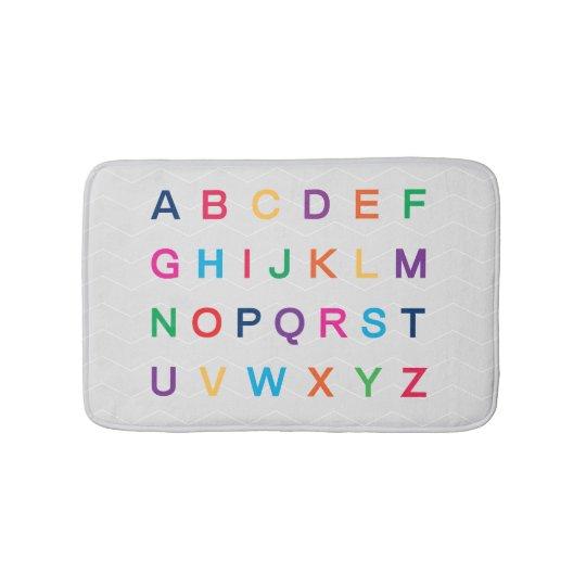 ABC's Alphabet learning colourful ABC letters Bath Mat