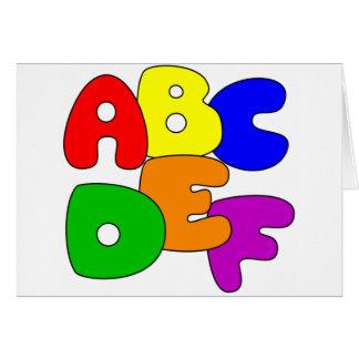ABC's Card
