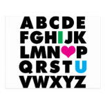 ABC's of Love Post Cards