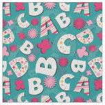 ABC's Pink & Blue Design Fabric