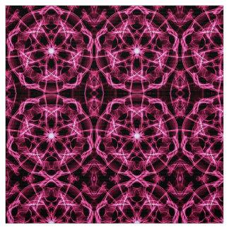 abctract circles dynamic pink mandala pattern fabric