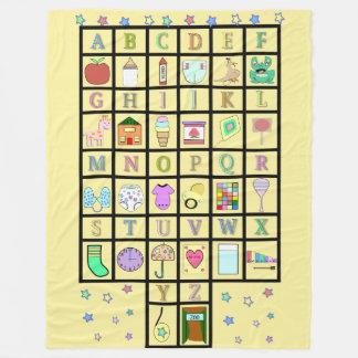 ABDL Alphabet | Adult Babv | Baby4life Fleece Blanket