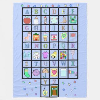 ABDL Alphabet blueblanket | Adult Baby | Baby4life Fleece Blanket