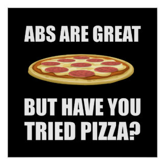 Abdominals Pizza Poster