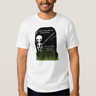 Abducted Alien Head Stone T-shirt