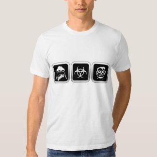 Abducted Bio Hazard Zombie Tee Shirts