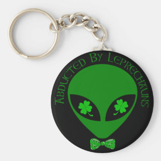 Abducted By Alien Leprechauns Basic Round Button Key Ring