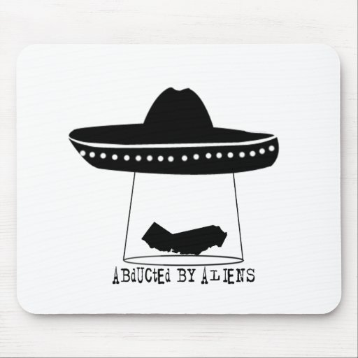 Abducted By Aliens Mousepads