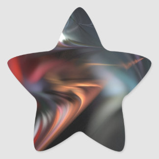 Abduction Muted Colors Fractal Star Sticker