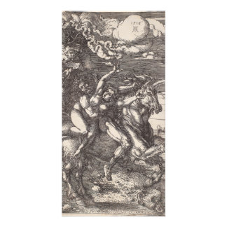 Abduction of Proserpine on a Unicorn by Durer Personalised Photo Card