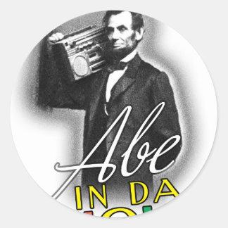 Abe In Da House Round Sticker