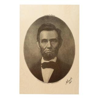 Abe Lincoln American President Vintage Portrait US Wood Prints