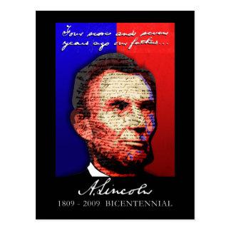 Abe Lincoln - Bicentennial Postcard