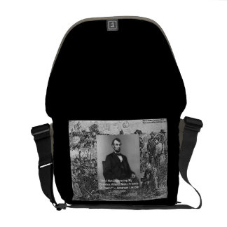 "Abe Lincoln ""Destroy Enemies"" Quote Rickshaw Messe Messenger Bags"