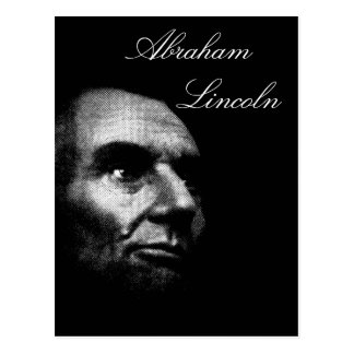 Abe Lincoln - Elegant White on Black Postcard