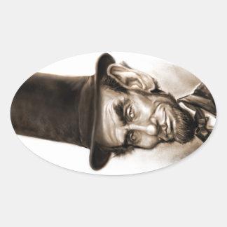 Abe Lincoln Fan Oval Sticker