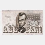 Abe Lincoln Fan Rectangular Sticker