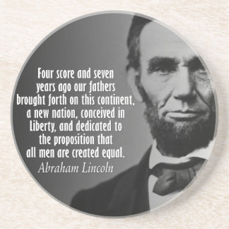 Abe Lincoln Quotation - Gettysburg Address Coasters