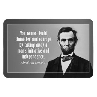 Abe Lincoln Quote on Character Flexible Magnets