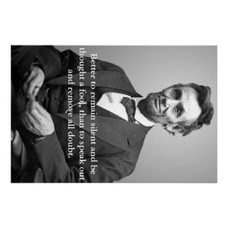 Abe Lincoln quote poster