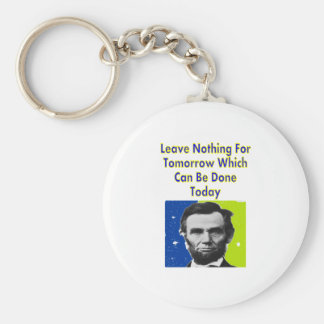 Abe Lincoln Quote T-Shirts & Gifts Basic Round Button Key Ring