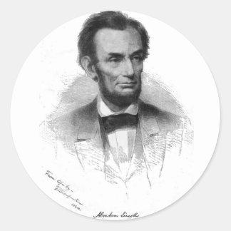 Abe Lincoln Round Sticker