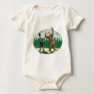 ABE LINCOLN: SASQUATCH HUNTER - Funny Bigfoot Logo Baby Bodysuit