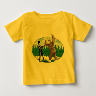 ABE LINCOLN: SASQUATCH HUNTER - Funny Bigfoot Logo Baby T-Shirt
