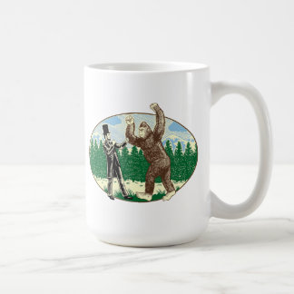 ABE LINCOLN: SASQUATCH HUNTER - Funny Bigfoot Logo Basic White Mug
