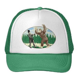 ABE LINCOLN: SASQUATCH HUNTER - Funny Bigfoot Logo Cap