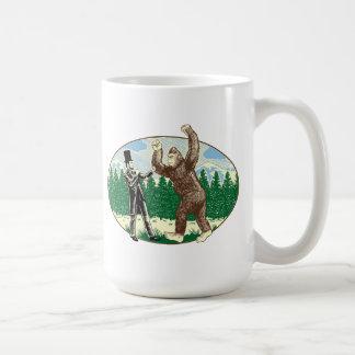 ABE LINCOLN: SASQUATCH HUNTER - Funny Bigfoot Logo Classic White Coffee Mug