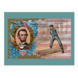 Abe Lincoln Splitting Rails Centennial Souvenir Postcards