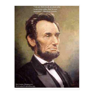 "Abe Lincoln ""Wiser"" Quote Gifts Tees Cards Etc"