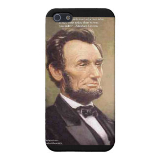 """Abe Lincoln """"Wiser"""" Quote Gifts Tees Cards Etc iPhone 5/5S Case"""