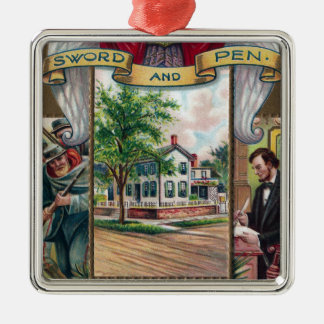 Abe Lincoln's Springfield Home Vintage Christmas Ornament