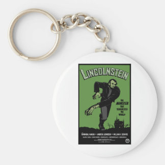 Abe Lincolnstein. the monster that terrorized... Basic Round Button Key Ring